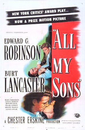 All My Sons 1948 DVD - Edward G. Robinson / Burt Lancaster