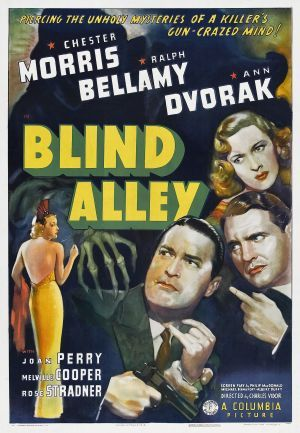 Blind Alley 1939 DVD - Chester Morris / Ralph Bellamy