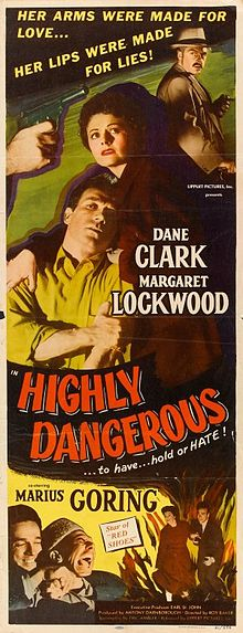 Highly Dangerous 1950 DVD - Margaret Lockwood / Dane Clark