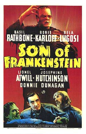 Son of Frankenstein 1939 DVD - Basil Rathbone Boris Karloff